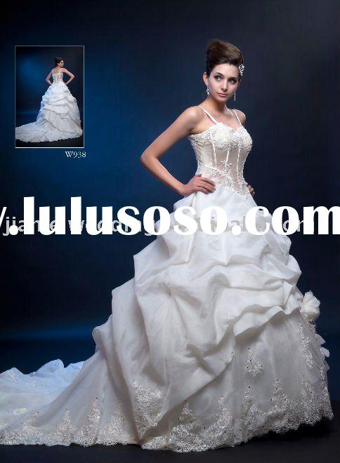 2011 New Design Latest Fashion Trend Ruffled Wedding Dresses (W938)