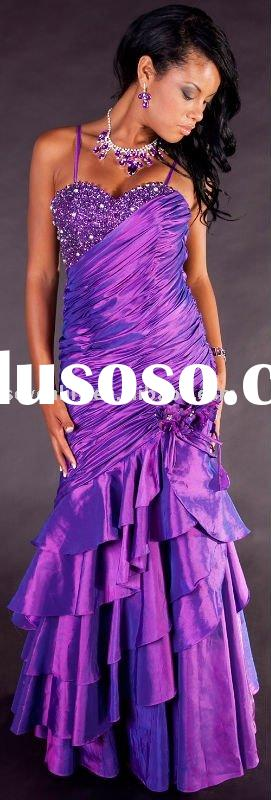 2011 New Fashion Best Selling Purple Prom Dresses