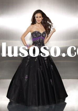2011 New Style Black Prom Party Ball Dresses Evening Gown mp-016