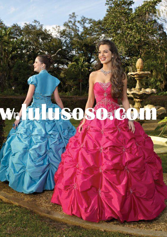 2011 New arrival prom dresses MLQ-259 ball gown high quality best seller quinceanera dresses