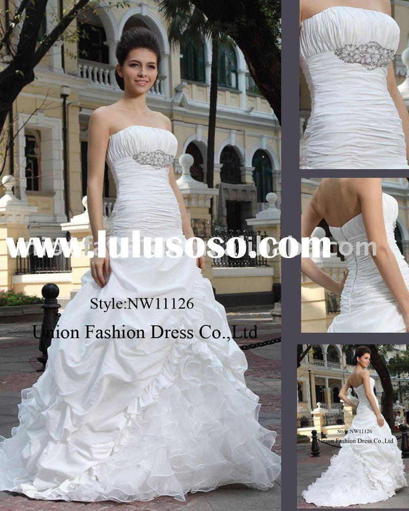 2011 Newest Design  Wedding Dress with Beads