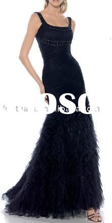 2011 black evening dress