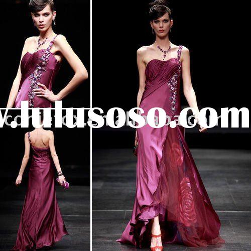 2011 hot sale coniefox one-shoulder beaded prom gown  80356