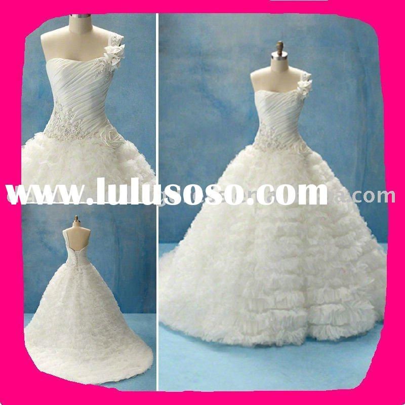 2011 latest design Luxury wedding dress