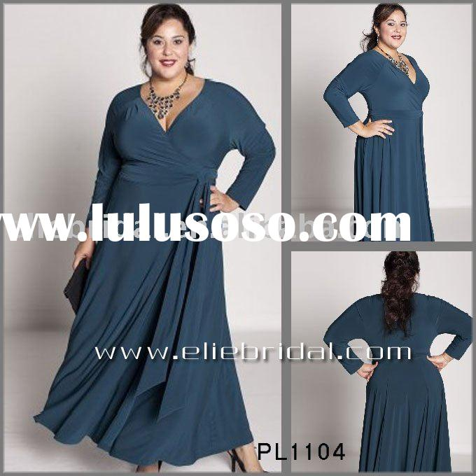 2011 long plus size evening dress,party dress,prom dress,OEM,retail and wholesale custom size