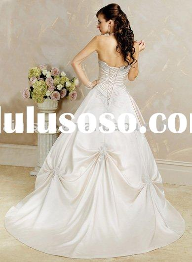 2011 new fashion high quality and made of stain wedding dress