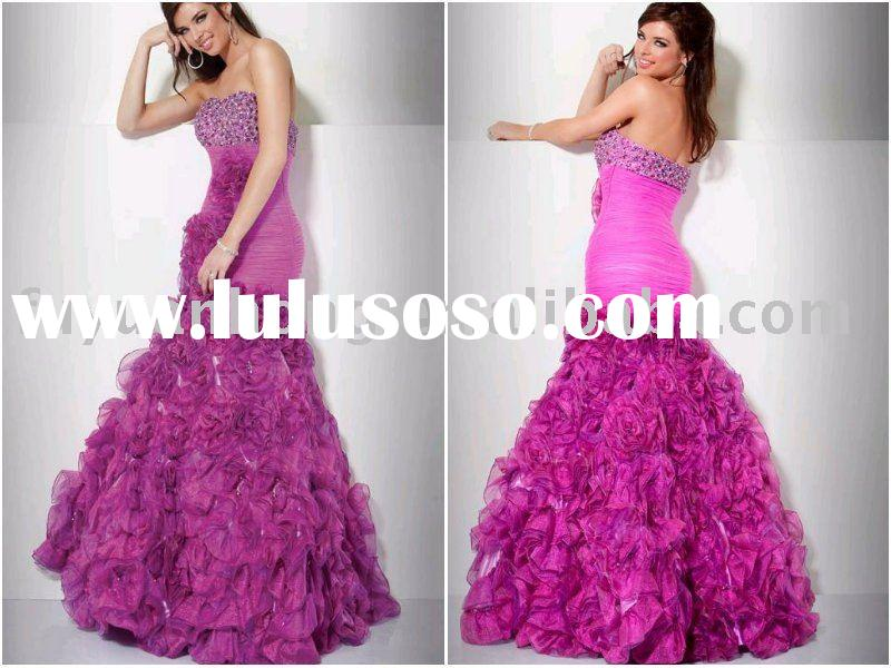 2011 prom gown  beading dress  WD 5366