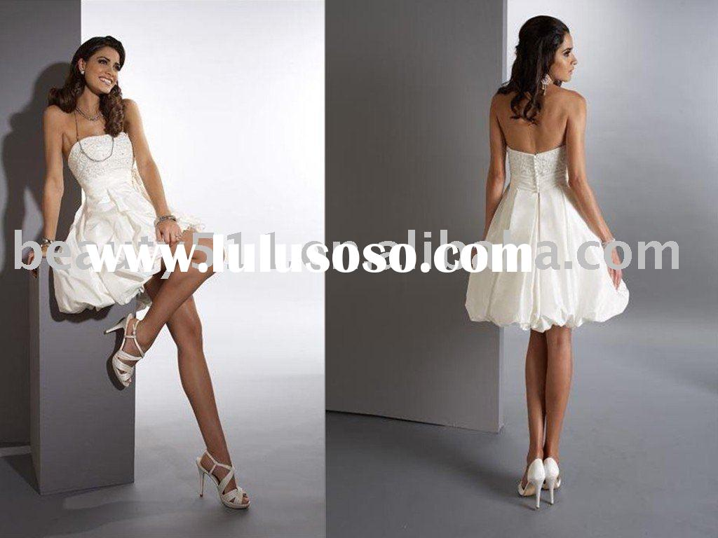 2011 short white casual wedding dress bridal gown SL515