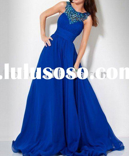2011 sleeveless prom dress