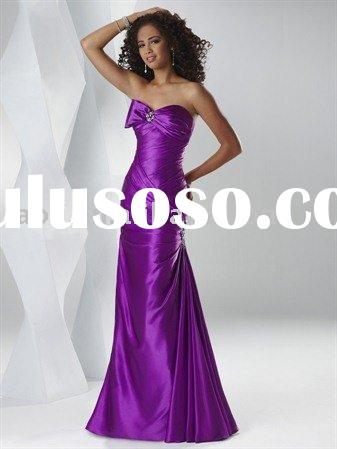 2011 strapless mock-bow flirt prom dress,graduation party dress
