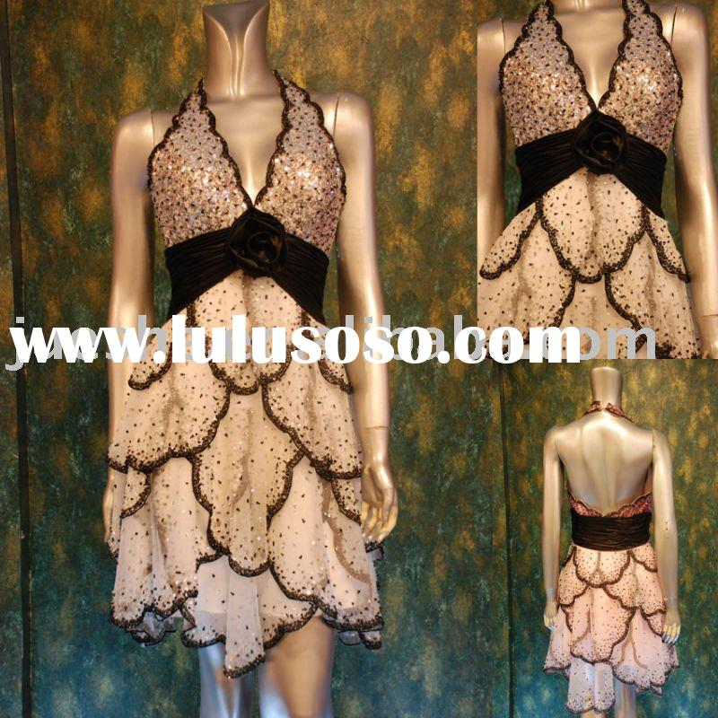 6320--- 2011 new collection cute halter party dress