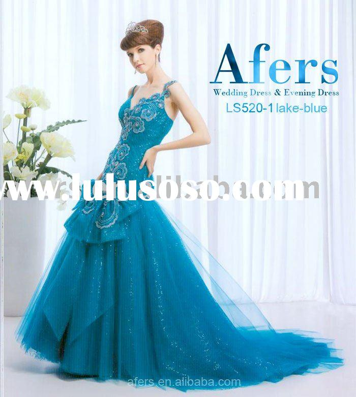 Afers Fishtail evening dress,Pattern of clouds and hot drilling prom dress NO.LS520-1