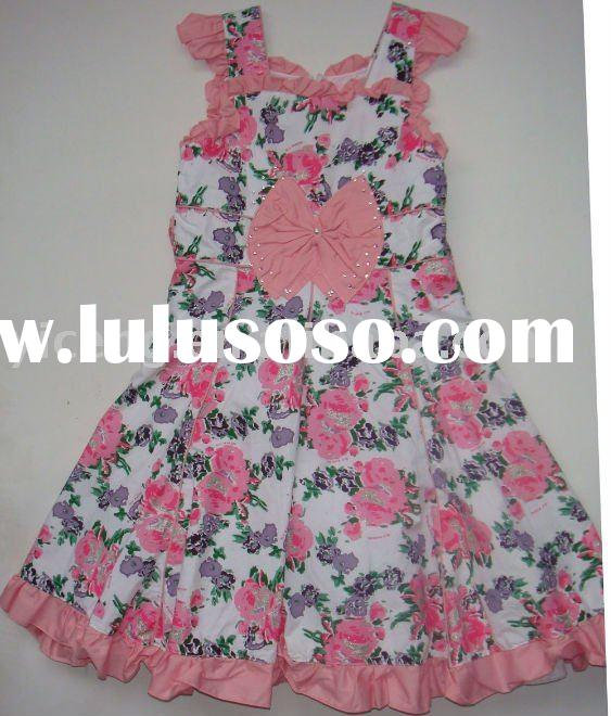 Arabic floral print prom dress for teenagers child wear G624