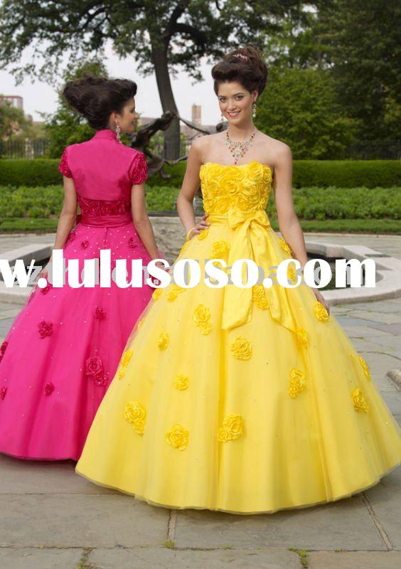 Ball gown yellow quinceanera dress 2011