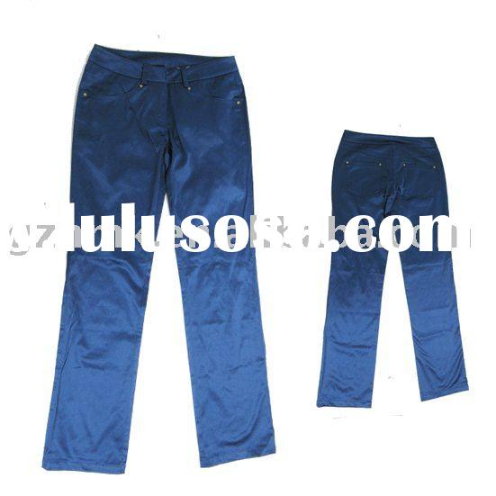 Blue casual pants
