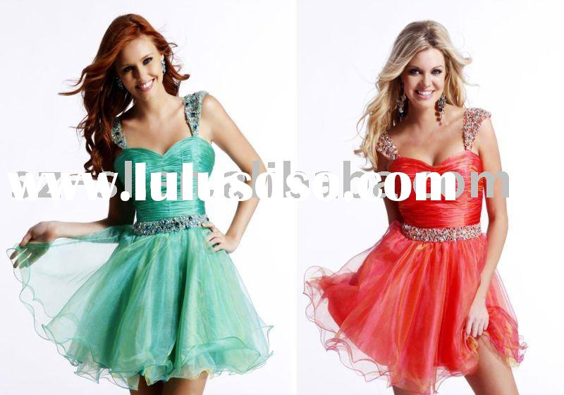 Cap sleeve short homecoming dress 2011 SL-4434