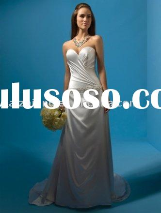 Elegant strapless bead mermaid wedding dress prom dress evening dress
