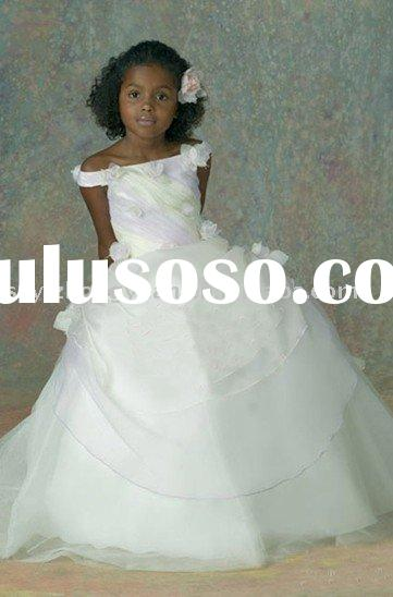 Flower girl dress (taffeta&tulle) szyizhongyuan-hua0063
