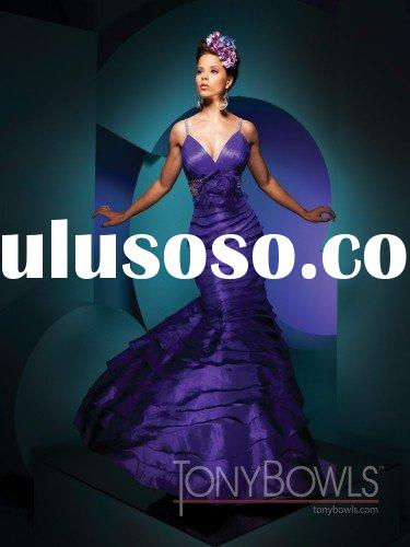 Free shipping best selling Glamorous long blue prom dresses 2011