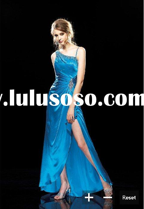 Hot Fancy one-shoulder cheap Prom Dress 2011