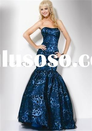 JP029 2011 Strapless mermaid printed prom dress