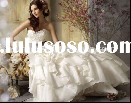 Leatest design strapless wedding dress&wedding gown&bride dress