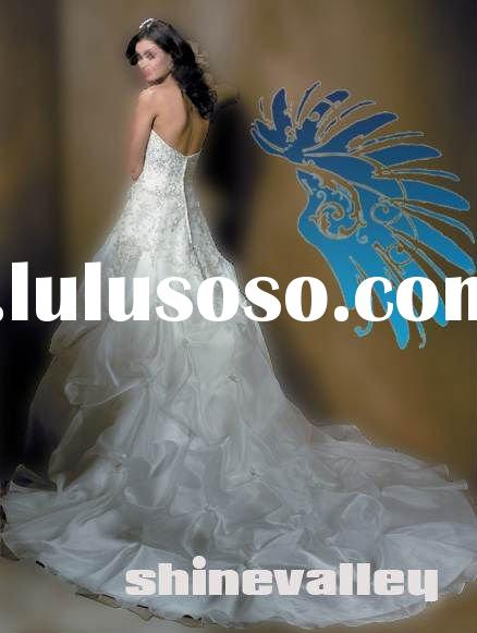 New Elegant Designer Organza Ball Gown Wedding Dress,SH361