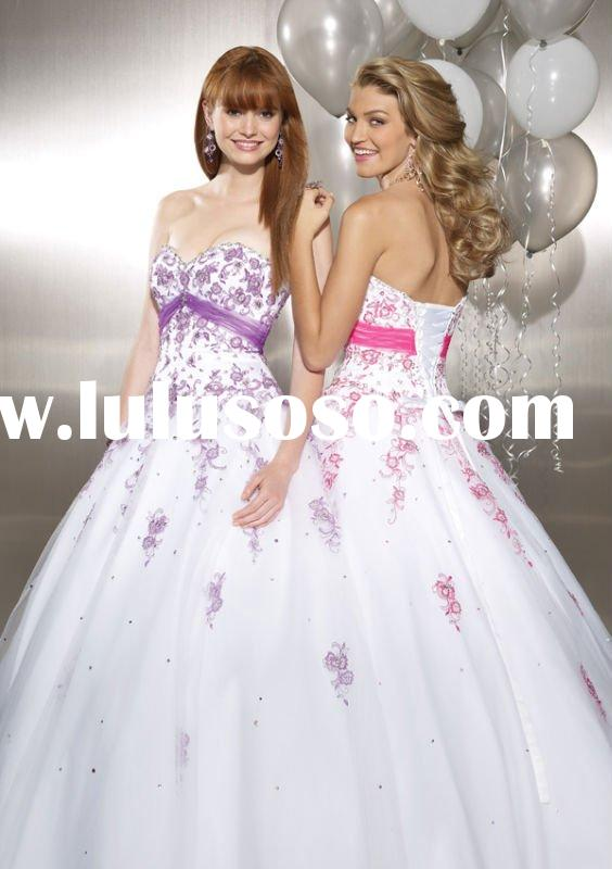 New Style Ball gown Evening Dress Color Bridal Dress 2011 Quinceanera Prom dress