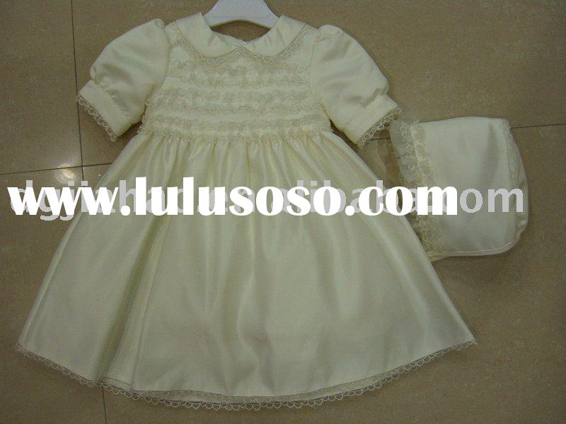 New style girls dress set with hat for 2011