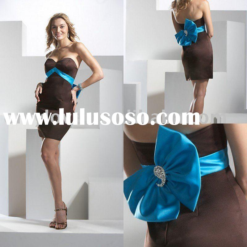 OL-971 only love fashionest new styles big bowknot party dress fashion dress