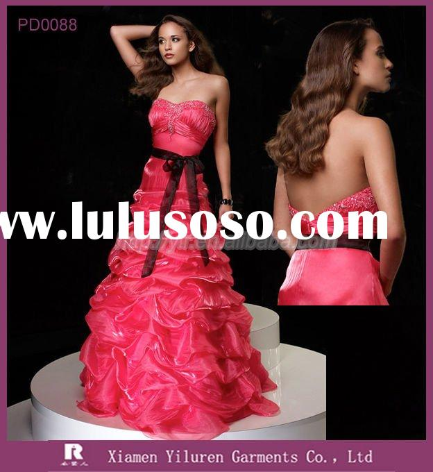 PD0088 - 2010 Newest style Designer Emprie Strapless Ball Gown Evening Prom Dresses