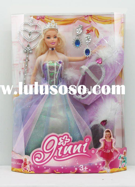Plastic princess barbie doll with ballet shoe for girl's toys