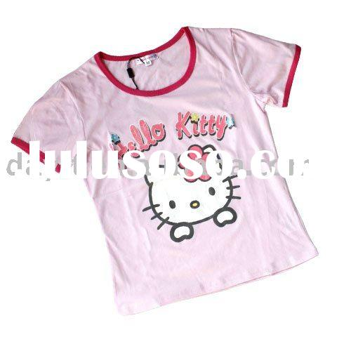 Power seller + Hello Kitty T-shirt for Kid A4466 on sale wholesale & drop shipping