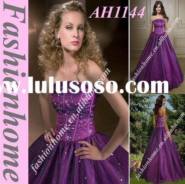 Purple evening ball gown, 2011 Women Party dress, formal party wear  AH1144