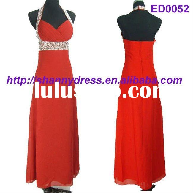 Red party gown dress