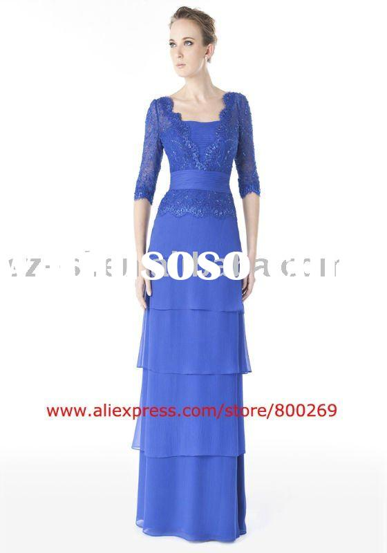 Senior mother's evening gown long sleeve 2011 SL-4527