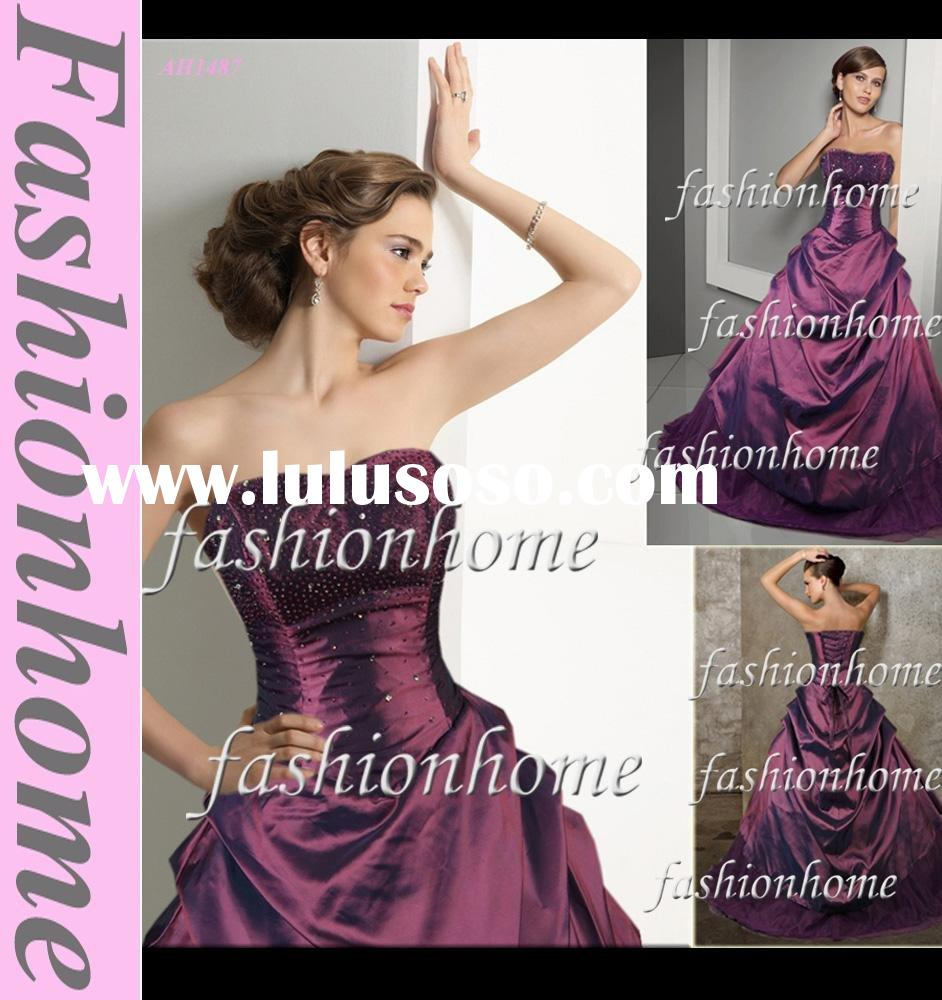 Top quality Beading Purple lady ball gown, Princess prom gown AH1487
