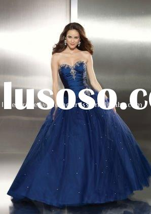 Uique design new fashion ball gown beading prom dress