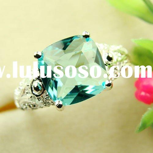 Wholesale Fashion Rings Blue Topaz Rings Topaz Jewelry