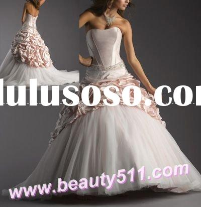best sale 2009 colored wedding dress, wedding gown, bridal dress, bridal gownCOL101
