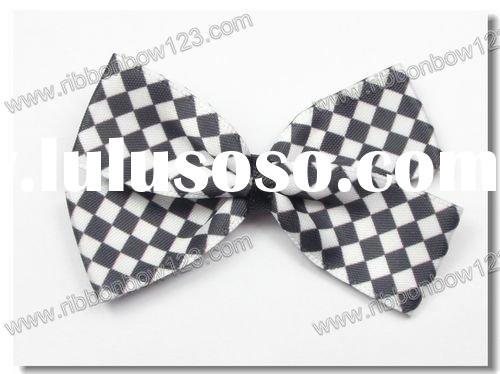 checked dress bow tie