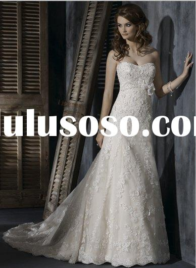 custom designs bridal dress,boutique  lace style wedding gown- MG1019