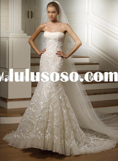 custom wedding gown
