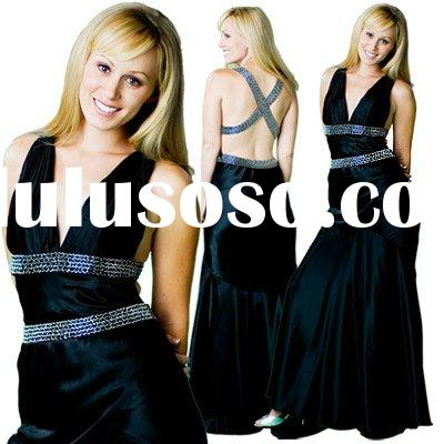 exquisite black evening dress