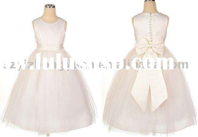 flower girl dress (taffeta&tulle) yzy-hua00104