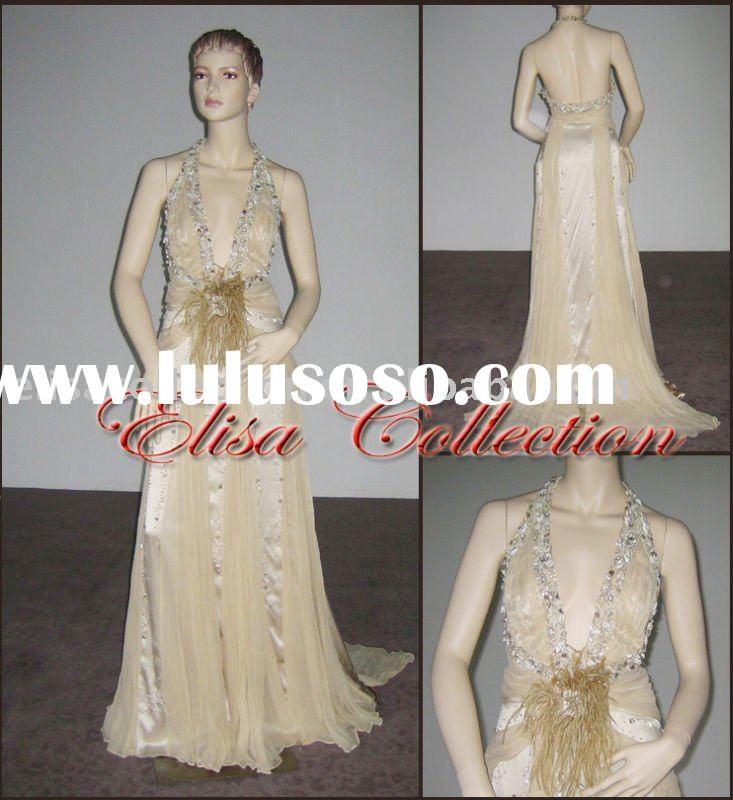 formal prom gown beaded with stones