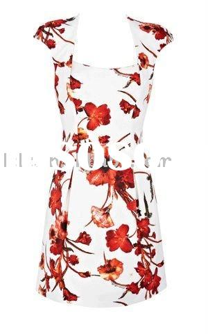 g19 designer lady printed prom dress ball gown
