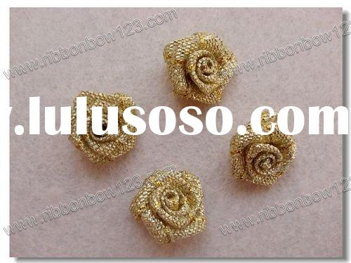gold rose for wedding dress decoration