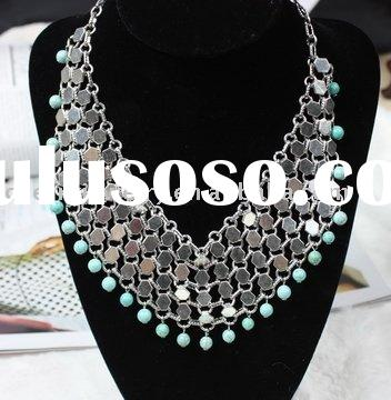 high quality new arrived Indian alloy with antique silver necklace