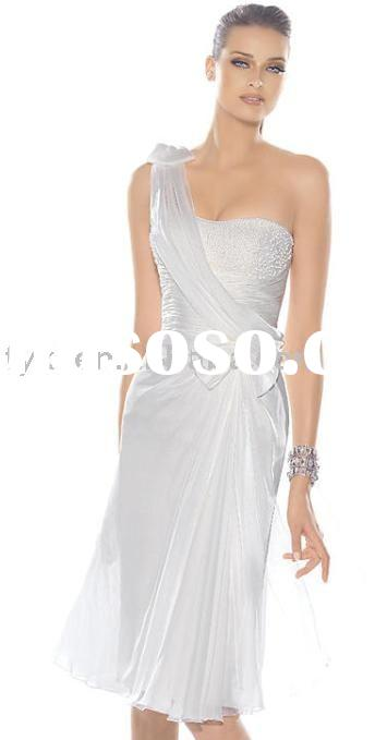 one shoulder short  prom  dress DL0928